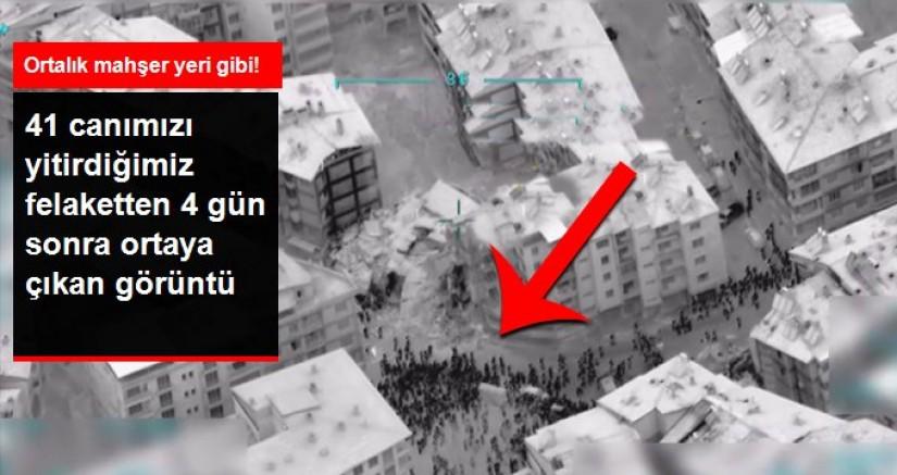 6.8'lik depremin ardından bölgedeki panik İHA'lar tarafından görüntülendi